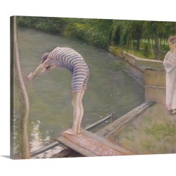 Large Solid-Faced Canvas Print Wall Art Print 30 x 24 entitled The Bather, or The Diver, 1877