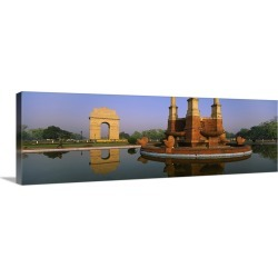 Large Solid-Faced Canvas Print Wall Art Print 60 x 20 entitled Reflection of a monument in water, India Gate, New Delhi, I... found on Bargain Bro Philippines from Great Big Canvas for $349.99
