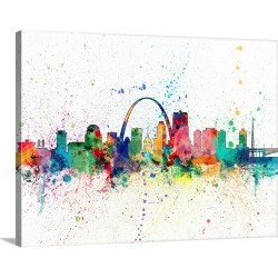 Large Gallery-Wrapped Canvas Wall Art Print 30 x 23 entitled St Louis Missouri Skyline