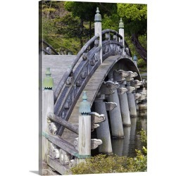 Large Gallery-Wrapped Canvas Wall Art Print 16 x 24 entitled Wooden arched Japanese bridge in garden inside the Imperial P... found on Bargain Bro India from Great Big Canvas - Dynamic for $214.99