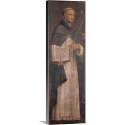 Large Solid-Faced Canvas Print Wall Art Print 12 x 36 entitled St. Thomas Aquinas