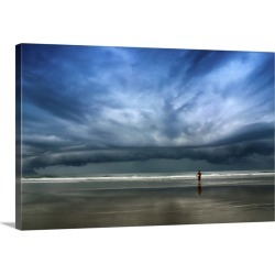Large Solid-Faced Canvas Print Wall Art Print 30 x 20 entitled The Storm Surfer