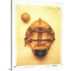 Large Gallery-Wrapped Canvas Wall Art Print 19 x 24 entitled Catchers mask