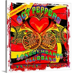 Large Solid-Faced Canvas Print Wall Art Print 20 x 20 entitled Fab4 Sgt. Pepper's Lonely Hearts Club 2