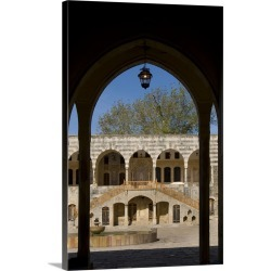 Large Gallery-Wrapped Canvas Wall Art Print 20 x 30 entitled Lebanon, Mount Lebanon, Beiteddine, Beiteddine Palace, Inner ...