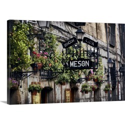 Large Solid-Faced Canvas Print Wall Art Print 30 x 20 entitled Madrid Tapas Bar Signs