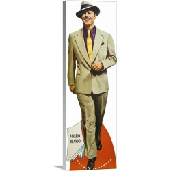 Large Solid-Faced Canvas Print Wall Art Print 12 x 36 entitled Marlon Brando in Guys And Dolls - Advertising Artwork