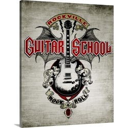 Large Gallery-Wrapped Canvas Wall Art Print 18 x 20 entitled Rocku -  Guitar School found on Bargain Bro India from Great Big Canvas - Dynamic for $204.99