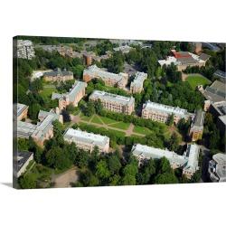 Large Gallery-Wrapped Canvas Wall Art Print 24 x 16 entitled University of Washington, Seattle, WA - Aerial Photograph