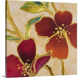 Large Solid-Faced Canvas Print Wall Art Print 20 x 20 entitled Happy Together II
