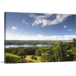 Large Solid-Faced Canvas Print Wall Art Print 30 x 20 entitled Puerto Rico, North Coast, San Sebastian, landscape by Lago ...