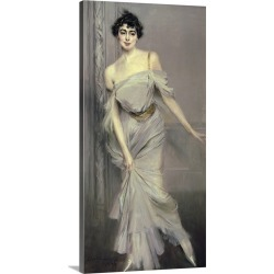 Large Gallery-Wrapped Canvas Wall Art Print 14 x 30 entitled Madame Charles Max, 1896