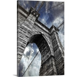 Large Gallery-Wrapped Canvas Wall Art Print 20 x 30 entitled The Brooklyn Bridge in New York City