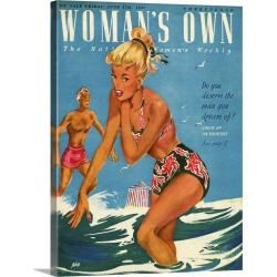 Large Gallery-Wrapped Canvas Wall Art Print 18 x 24 entitled 1940's UK Woman's Own Magazine Cover