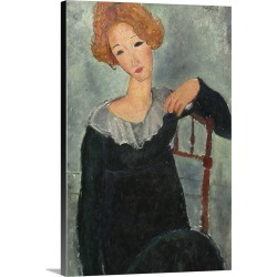 Large Gallery-Wrapped Canvas Wall Art Print 16 x 24 entitled Woman with Red Hair, by Amedeo Modigliani, 1917, Italian pain... found on MODAPINS from Great Big Canvas - Dynamic for USD $214.99