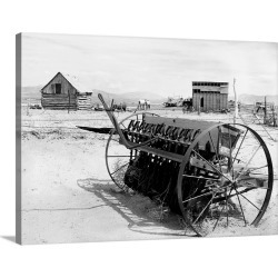 Large Solid-Faced Canvas Print Wall Art Print 40 x 30 entitled Dried Up Farm