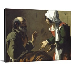 Large Solid-Faced Canvas Print Wall Art Print 24 x 18 entitled The Denial of St. Peter