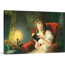 Large Gallery-Wrapped Canvas Wall Art Print 24 x 16 entitled The Ghost Story By Robert William Buss Trade Card found on Bargain Bro India from Great Big Canvas - Dynamic for $214.99