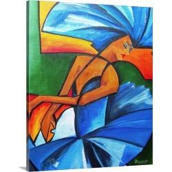 Large Solid-Faced Canvas Print Wall Art Print 24 x 30 entitled Dance in Blue, 2008