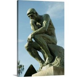 Large Gallery-Wrapped Canvas Wall Art Print 16 x 24 entitled Low angle view of a statue, The Thinker, Musee Rodin, Paris, ... found on Bargain Bro India from Great Big Canvas - Dynamic for $224.99