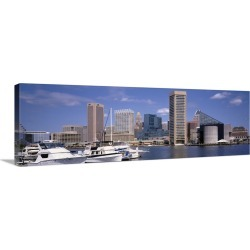 Large Solid-Faced Canvas Print Wall Art Print 48 x 16 entitled Baltimore MD