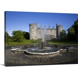 Large Solid-Faced Canvas Print Wall Art Print 30 x 20 entitled Kilkenny Castle rebuilt in the 19th Century, Kilkenny City,...
