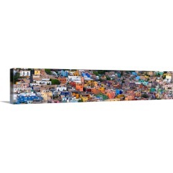 Large Gallery-Wrapped Canvas Wall Art Print 60 x 13 entitled High angle view of buildings in a city, Guanajuato, Mexico found on Bargain Bro India from Great Big Canvas - Dynamic for $399.99