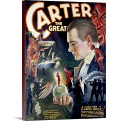 Large Gallery-Wrapped Canvas Wall Art Print 18 x 24 entitled Carter the Great, Shooting a Marked Bullet ,Vintage Poster found on Bargain Bro India from Great Big Canvas - Dynamic for $184.99