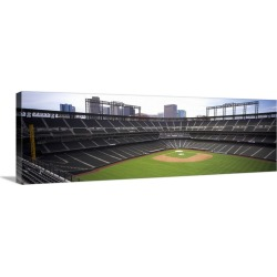 Large Solid-Faced Canvas Print Wall Art Print 48 x 16 entitled Coors Field Denver CO