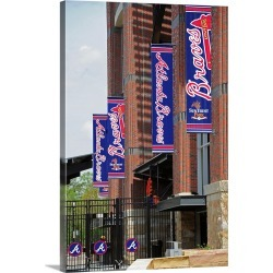 Large Gallery-Wrapped Canvas Wall Art Print 16 x 24 entitled New York Yankees vs. Atlanta Braves