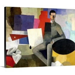 Large Solid-Faced Canvas Print Wall Art Print 30 x 24 entitled The Seated Man, or The Architect