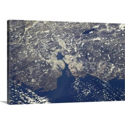 Large Solid-Faced Canvas Print Wall Art Print 30 x 20 entitled Halifax, Nova Scotia, on a crystal clear day