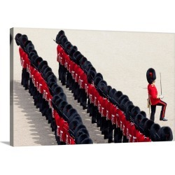 Large Solid-Faced Canvas Print Wall Art Print 30 x 20 entitled UK, England, London, Trooping the Colour Ceremony at Horse ...