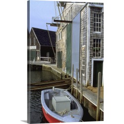 Large Solid-Faced Canvas Print Wall Art Print 20 x 30 entitled Oyster Harbor, Cape Cod, MA