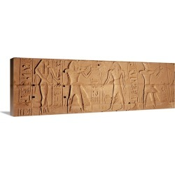 Large Gallery-Wrapped Canvas Wall Art Print 36 x 13 entitled Close-up of hieroglyphics, Luxor, Egypt found on Bargain Bro India from Great Big Canvas - Dynamic for $309.99