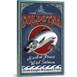 Large Gallery-Wrapped Canvas Wall Art Print 16 x 24 entitled Soldotna, Alaska, Salmon found on Bargain Bro India from Great Big Canvas - Dynamic for $214.99