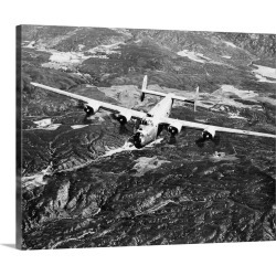 Large Gallery-Wrapped Canvas Wall Art Print 20 x 16 entitled B-24 Liberator Bomber