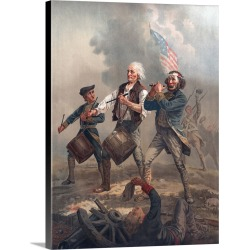 Large Solid-Faced Canvas Print Wall Art Print 30 x 40 entitled Yankee Doodle, or The Spirit of '76