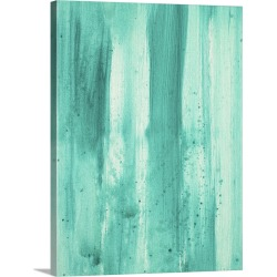 Large Solid-Faced Canvas Print Wall Art Print 30 x 40 entitled Modern Dance Aqua Passion - Abstract Decorative Painting