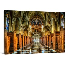 Large Gallery-Wrapped Canvas Wall Art Print 30 x 20 entitled Inside St. Andrews Catholic Church