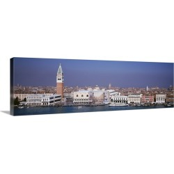 Large Solid-Faced Canvas Print Wall Art Print 60 x 20 entitled Aerial view of a city along a canal, Venice, Italy found on Bargain Bro Philippines from Great Big Canvas for $349.99