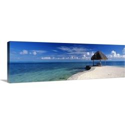 Large Solid-Faced Canvas Print Wall Art Print 48 x 16 entitled Bora Bora Point Bora Bora