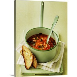 Large Gallery-Wrapped Canvas Wall Art Print 18 x 24 entitled Zuppa ricca (Italian vegetable soup with savoy cabbage) found on Bargain Bro India from Great Big Canvas - Dynamic for $244.99