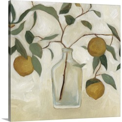 Large Solid-Faced Canvas Print Wall Art Print 20 x 20 entitled Greenery Still Life I