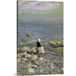 Large Solid-Faced Canvas Print Wall Art Print 20 x 30 entitled On the Shore of the Black Sea, 1890s