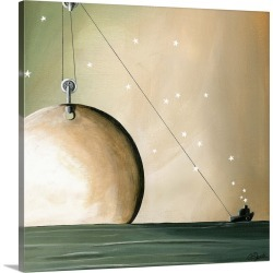 Large Solid-Faced Canvas Print Wall Art Print 20 x 20 entitled A Solar System