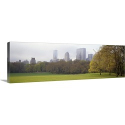Large Gallery-Wrapped Canvas Wall Art Print 36 x 12 entitled Trees in a park, Central Park, Manhattan, New York City, New ...