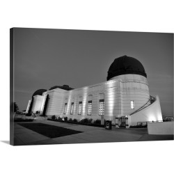 Large Gallery-Wrapped Canvas Wall Art Print 30 x 20 entitled Exterior view of the Griffith Observatory at dusk