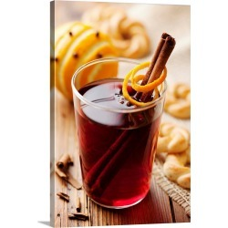 Large Gallery-Wrapped Canvas Wall Art Print 16 x 24 entitled Mulled wine with cinnamon, oranges and cloves found on Bargain Bro India from Great Big Canvas - Dynamic for $224.99