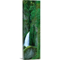 Large Solid-Faced Canvas Print Wall Art Print 16 x 48 entitled Waterfall in a forest, Columbia River Gorge, Oregon, found on MODAPINS from Great Big Canvas - Dynamic for USD $234.99